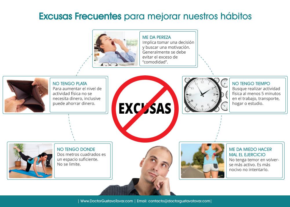 Excusas frecuentes al momento de mejorar nuestros habitos
