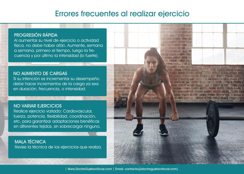 Errores frecuentes al realizar ejercicio - Doctor Gustavo Tovar